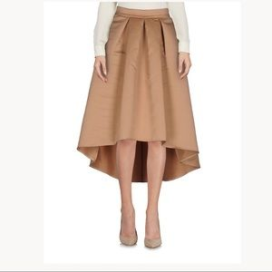 So Allure High Low Camel Brown Tan Pleated Skirt,6